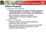 offeror proposal