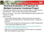technical evaluation of proposals for multiple contractor combined project