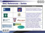 bac references serbia