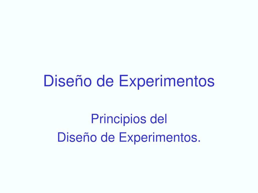 dise o de experimentos l.