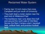 reclaimed water system