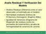 analis residual y verificaci n del modelo