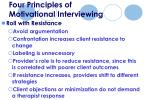 four principles of motivational interviewing43