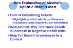 how explanation of alcohol s biphasic effect is used