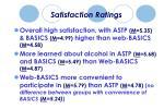 satisfaction ratings