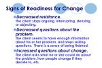 signs of readiness for change