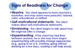 signs of readiness for change58