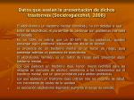 datos que avalan la presentaci n de dichos trastornos socidrogalcohol 2008