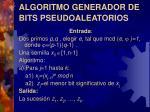 algoritmo generador de bits pseudoaleatorios