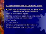 el generador bbs blum blum shub