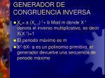 generador de congruencia inversa