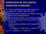 generador de dsa digital signature standard