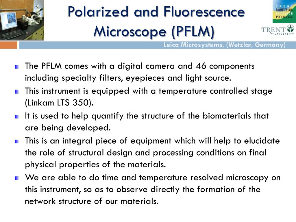 polarized and fluorescence microscope pflm l.