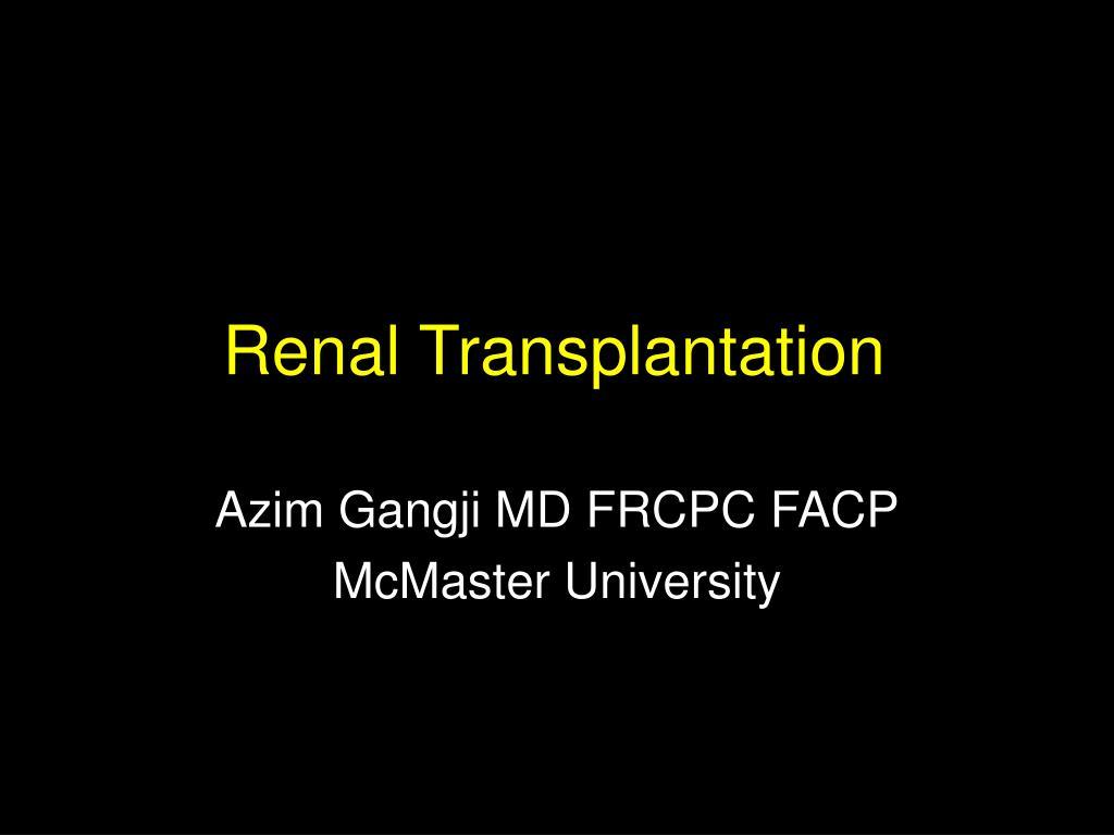 renal transplantation l.
