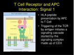 t cell receptor and apc interaction signal 1
