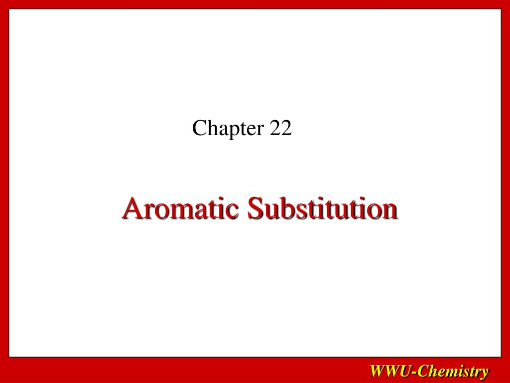 aromatic substitution l.
