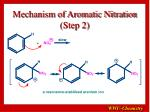mechanism of aromatic nitration step 2