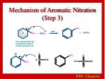 mechanism of aromatic nitration step 3