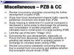 miscellaneous pzb cc