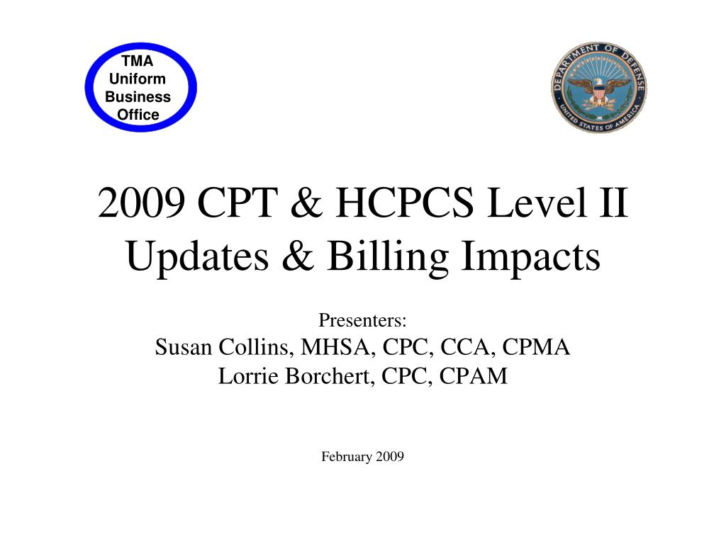 2009 cpt hcpcs level ii updates billing impacts l.