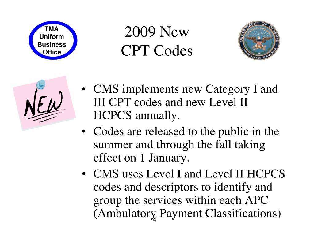 PPT - 2009 CPT & HCPCS Level II Updates & Billing Impacts