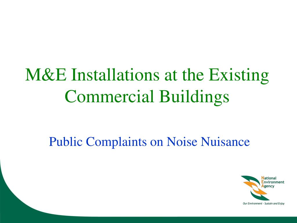 M&E Installations at the Existing Commercial Buildings
