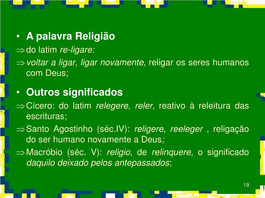 A palavra Religião