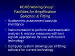 facilities for amplification selection fitting