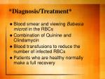 diagnosis treatment
