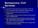 bureaucracy civil servants