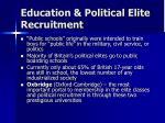 education political elite recruitment