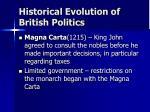 historical evolution of british politics