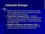 interest groups