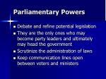 parliamentary powers