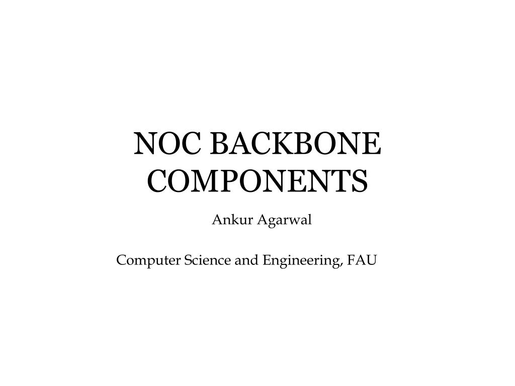noc backbone components l.