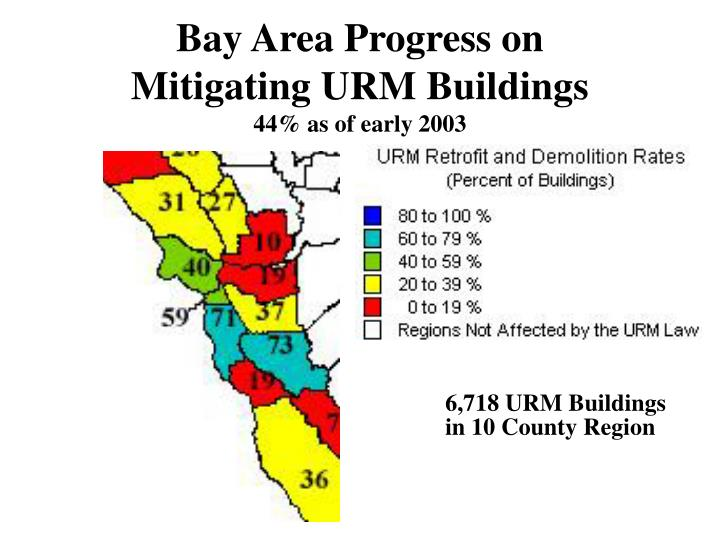 Bay area progress on mitigating urm buildings 44 as of early 2003