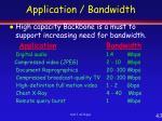 application bandwidth