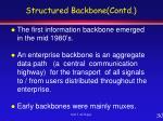 structured backbone contd30