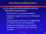 structured cabling cont