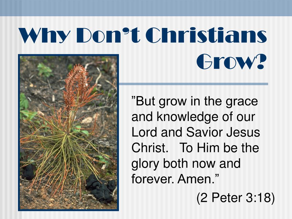 why don t christians grow l.