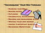 techniquing your way through14