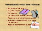 techniquing your way through9