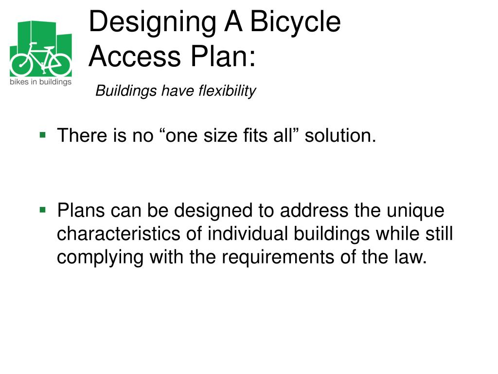 Designing A Bicycle Access Plan: