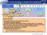 ntt communication s global ipv6 backbone