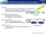 ocn ipv6 ipv4 dual adsl service outline