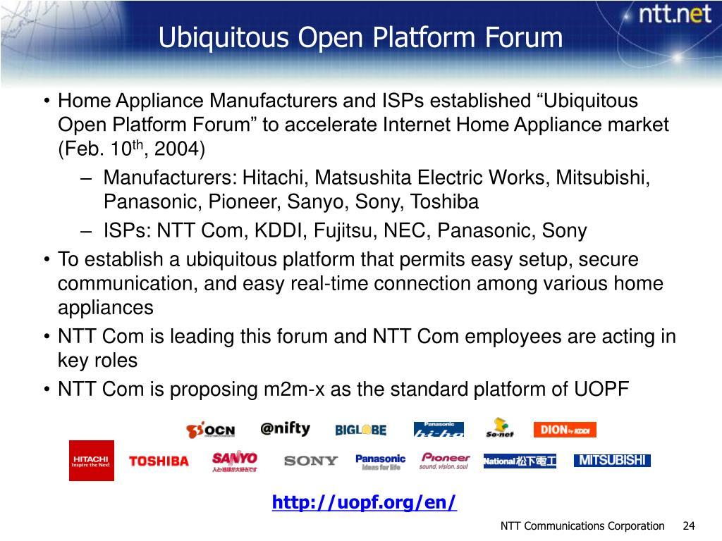 Ubiquitous Open Platform Forum