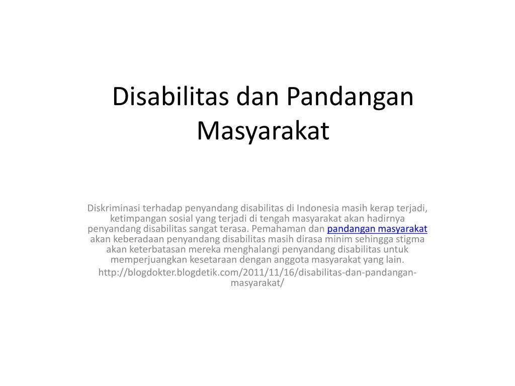 disabilitas dan pandangan masyarakat l.