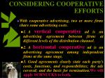considering cooperative efforts