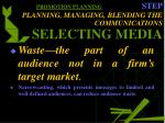 promotion planning step planning managing blending the communications selecting media30