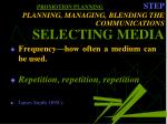 promotion planning step planning managing blending the communications selecting media31
